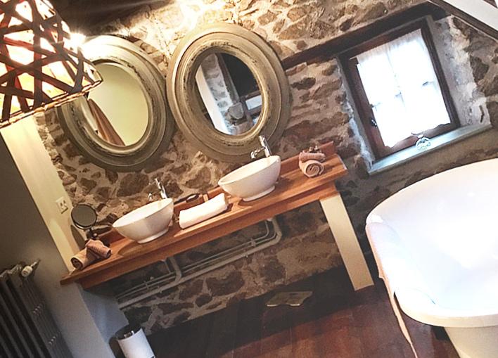 Salle de bain chambre olive